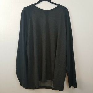 Orvis Black Gray Sweat Shirt Crew Neck XXL